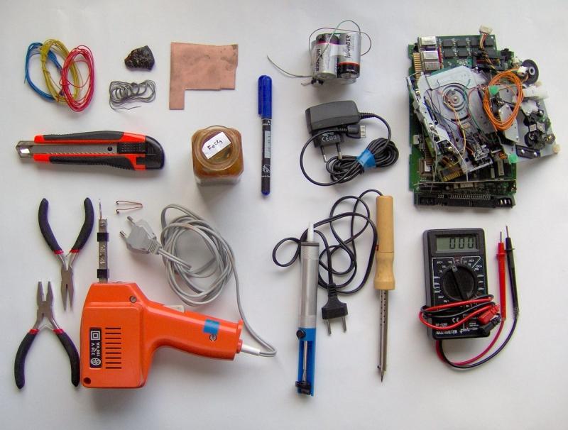 Original source: https://upload.wikimedia.org/wikipedia/commons/thumb/6/6c/Electronics_tools_and_material.jpg/1280px-Electronics_tools_and_material.jpg