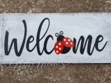 WHITE WASHED COUNTRY WELCOME SIGN