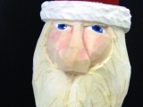 Carving a Wooden Santa Ornament