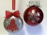 Glitter Christmas Ornaments