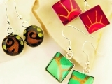 Resin Pendant and Earring Set