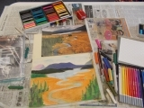 Drawing into Pastel