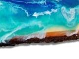 Live Edge Resin Ocean Painting