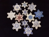 Porcelain Snowflake Ornaments Wkshop I