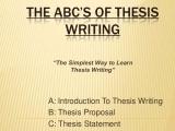 EN-501 Intro to Thesis Writing