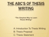EN-501 Intro to Thesis Writing