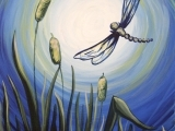 Dragonflies in the Moonlight