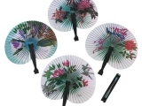 310S20 Torn Cotton Paper Art - Chinese Fan