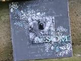 Brush & Pallet - A Holiday Mixed Media Canvas - Torrington