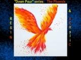 "EW-08-12/14 Acrylic Down Pour Series Acrylic & Resin "" The Phoenix """
