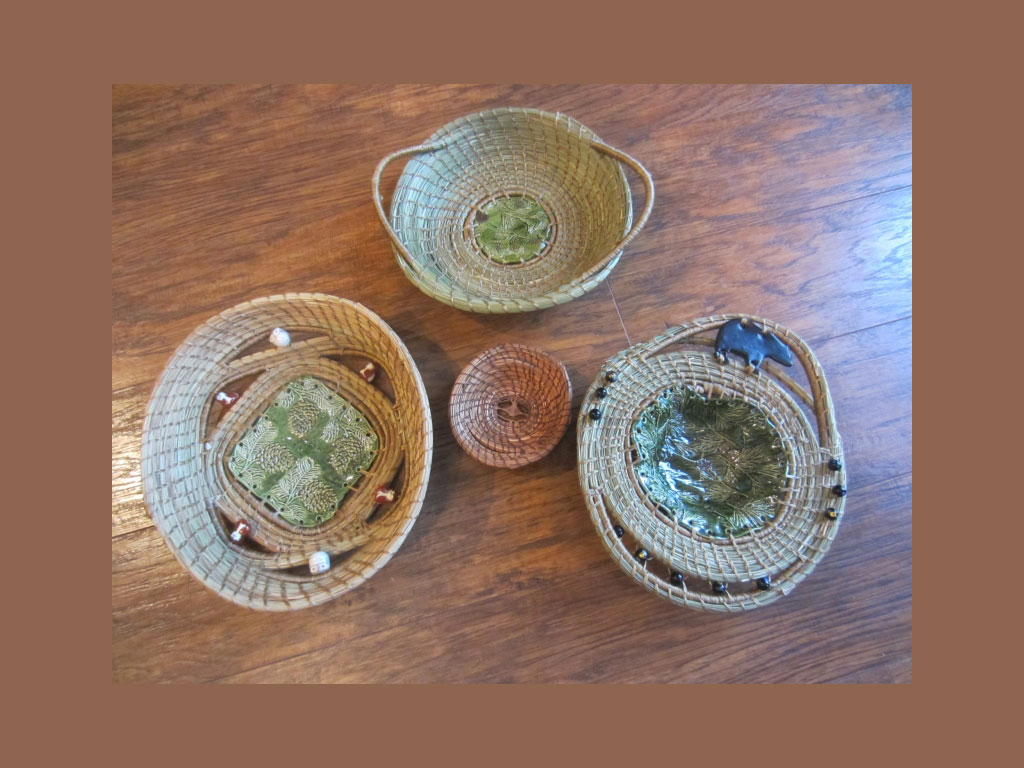 Pine Needle Basketry-Clipped Needles