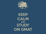 Preparing for the GMAT 1/13
