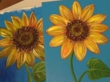 Paint Sunflowers Step by Step