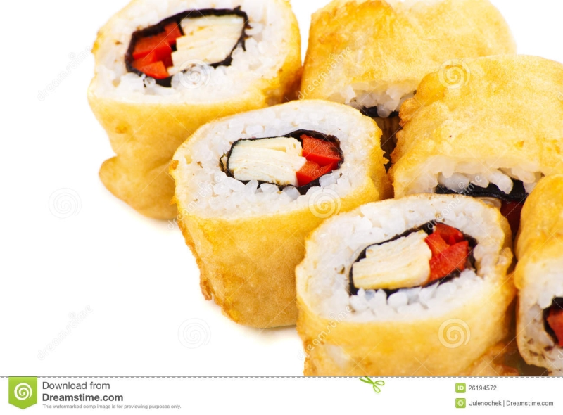 Original source: http://thumbs.dreamstime.com/z/tempura-maki-sushi-deep-fried-roll-paprika-26194572.jpg