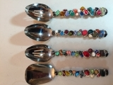 Beautiful Beaded Serving Spoon