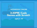 3:30PM | Code Games with Scratch