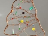 Copper and Bead Ornament