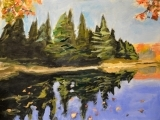 Art Night Out - Autumn In Maine Painting