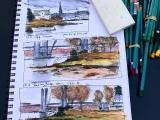 June, Art Adventure - The Traveling Sketchbook Summer Class