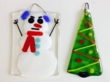 Glass Fusing: Holiday Ornaments