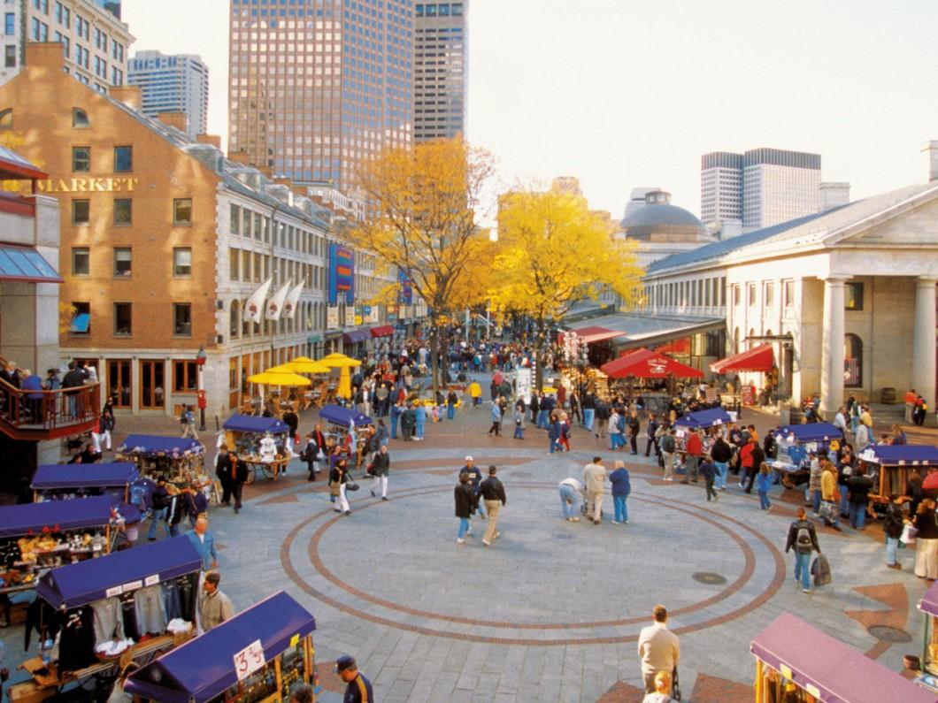 Boston's Quincy Market Bus Trip