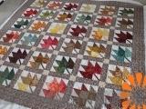 Maple Leaf Block Quilt