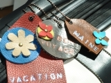 Riveted Luggage Tag and Purse Charm
