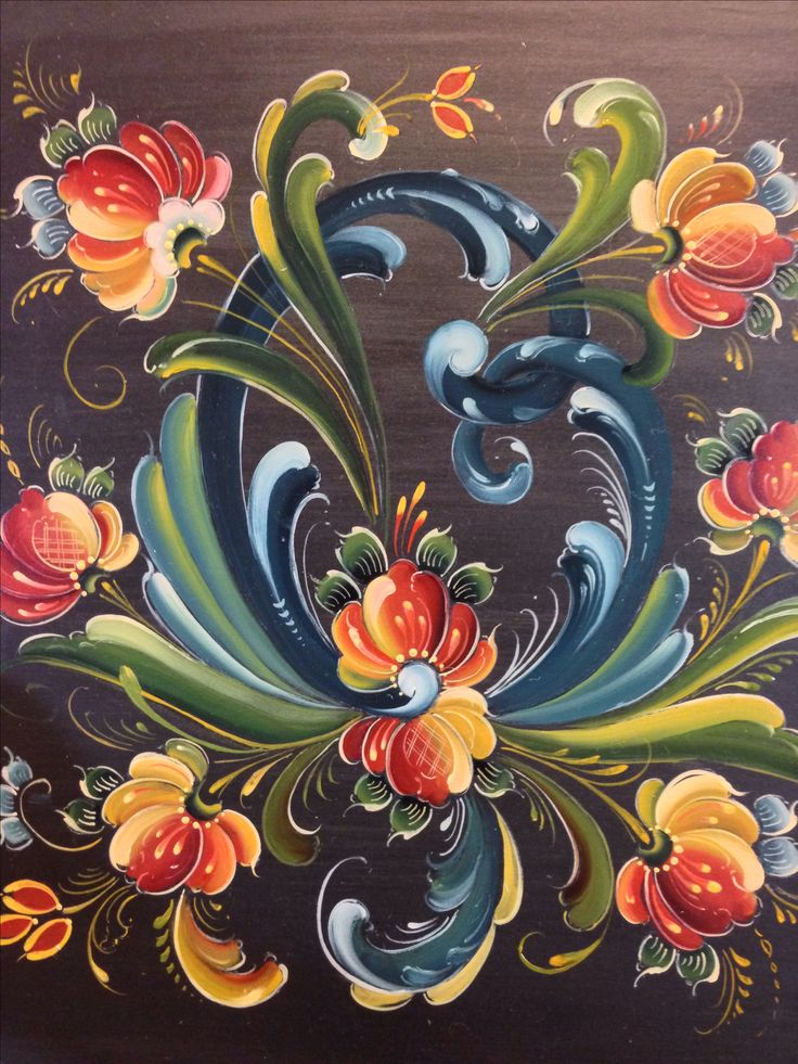 Rosemaling in the Telemark Style