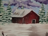 Painting with Jackie - Red Barn