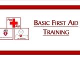 Basic First Aid Training Class TBA