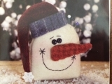 Wool Snowman Head Decoration