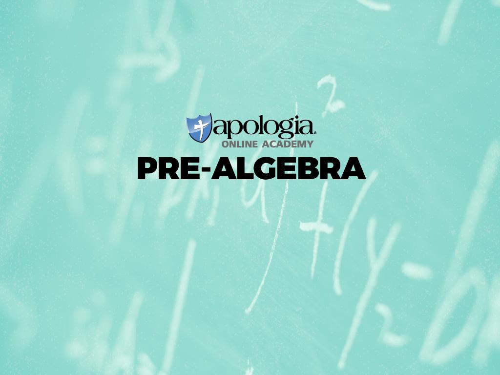 01. PRE-ALGEBRA (Option 1) $638*