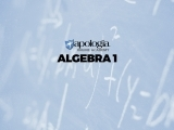 03. ALGEBRA I (Option 1) $638*