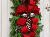 Christmas Door Swags F17