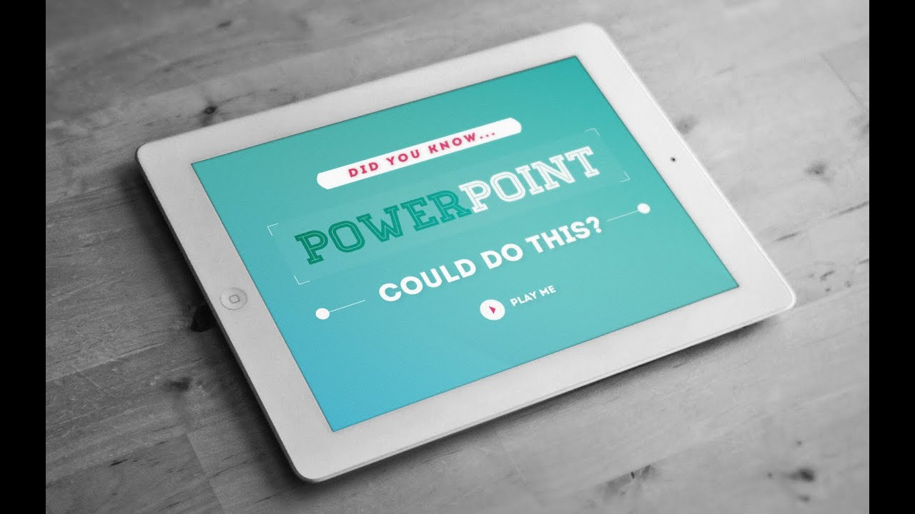 Storytelling with PowerPoint