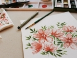 Watercolor Flowers  - Litchfield
