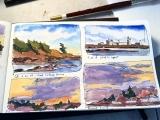 July, Art Adventure - The Traveling Sketchbook Summer Class