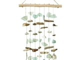 Driftwood Shell and Bead Wind Chimes