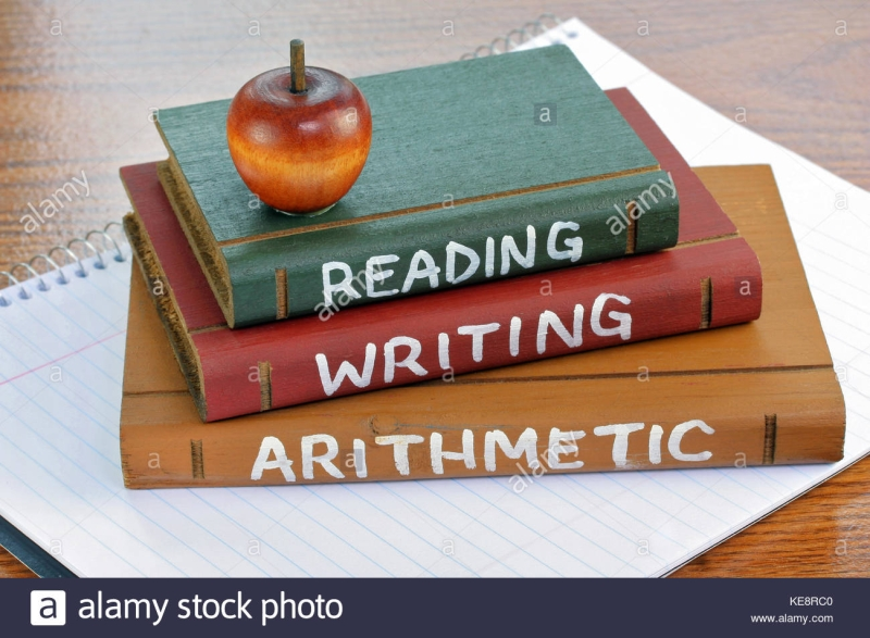 Original source: https://c8.alamy.com/comp/KE8RC0/three-wooden-books-with-reading-writing-and-arithmetic-painted-on-KE8RC0.jpg