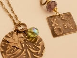 Art Night Out - Natural Brass Embossed Jewelry