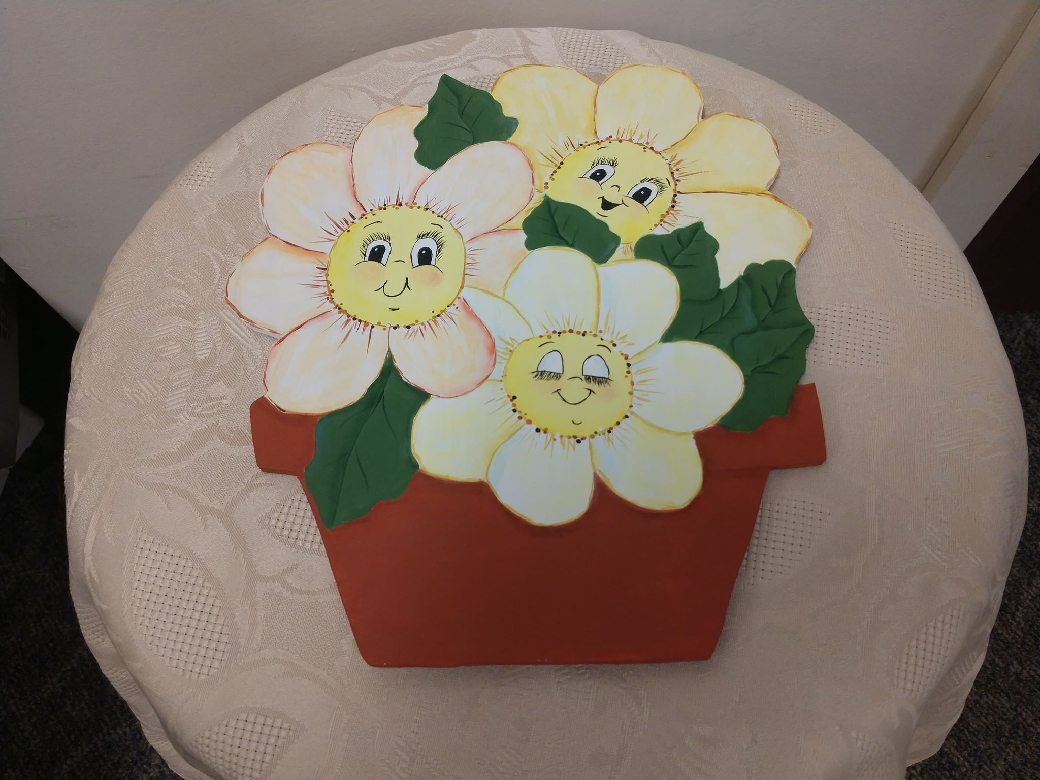 Arts and Crafts with Michelle Delightful Daisies Plaque Spring 2019