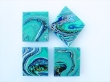 Masterpieces and Messages: Paint and Pour Tiles