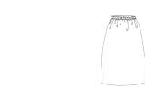Easy Elastic Waist A-Line Skirt