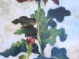 308F18 Beautiful Chrysanthemum Oriental Cotton Paper Art