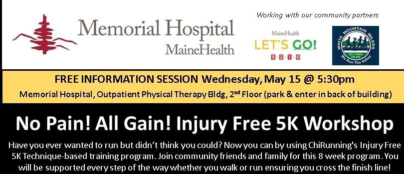 ChiRunning/Walking FREE INFO SESSION No Pain? All Gain! Injury Free 5K Program