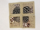 Zentangle- Working with Tan Tiles