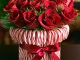 Candy Cane Holiday Floral Arrangement