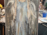 CANVAS PAINTING-ANGEL IN BLUE