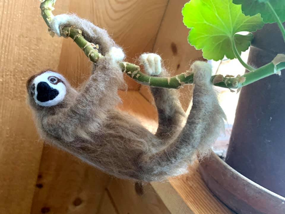 3D Needle Felting Workshop: Realistic Sloth