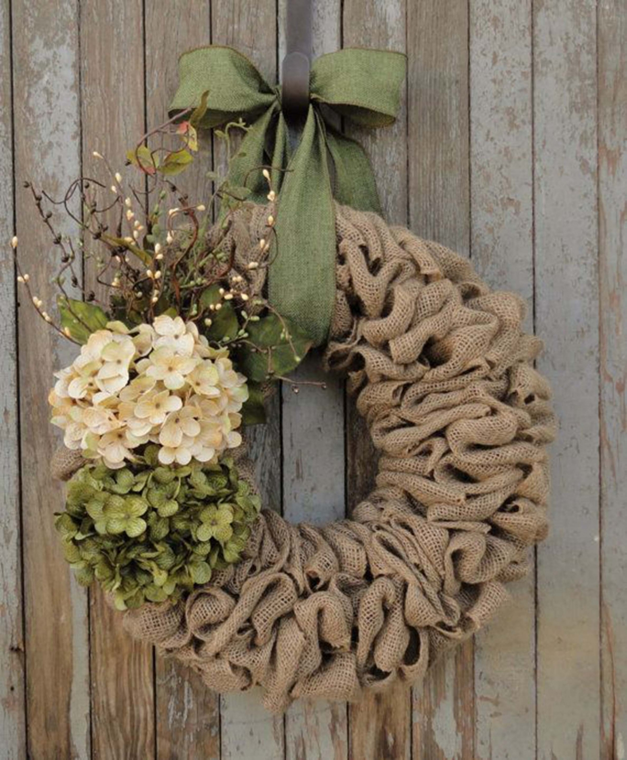 Craft a Burlap Wreath